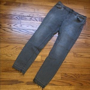 DL1961 gray jeans florence instasculpt raw hem